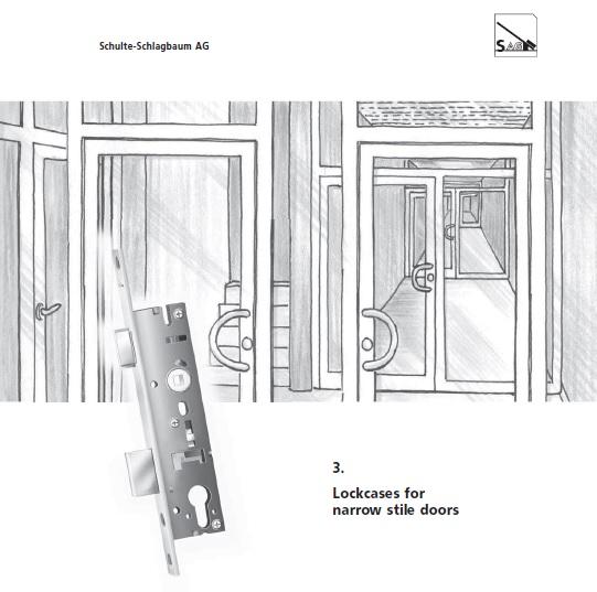 窄框門鎖夾